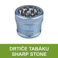 Značkové kovové drtiče tabáku Sharp Stone. Precizně zpracované čtyřdílné drtiče tabáku z kvalitního eloxovaného hliníku s atraktivním povrchem a diamantem broušeným ostřím. Kvalita a zajímavý vzhled - drtiče Sharp Stone.