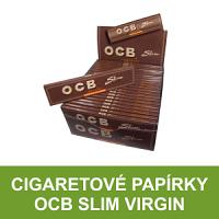 Kvalitní cigaretové papírky OCB Slim Virgin k balení cigaret. Papírky OCB Slim Virgin se vyrábějí z neběleného ultratenkého papíru. V řadě OCB Virgin nabízíme kompletní sortiment - papírky dlouhé, OCB Virgin Rolls a papírky s filtry Virgin Slim+Filters.