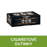 Kvalitní cigaretové dutinky OCB pro výrobu vlastních cigaret klasické velikosti King Size. Cigaretové dutinky jsou balené po 100, 200 a 300 kusech. Vše skladem.