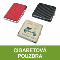 Cigaretová pouzdra, tabatěrky, pouzdra na cigarety. Tabatěrky (pouzdra) na stovkové cigarety, na slim cigarety, na klasickou (King Size) velikost cigaret. Pouzdro na cigarety Clic Boxx - pouzdro na celou krabičku cigaret. Velký výběr, skladem.